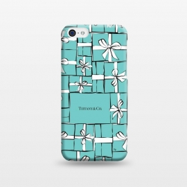 iPhone 5C  Tiffany Gift Box by Martina (fashion, fashionable, stylish, modern, feminine, pretty, girlie, art,artwork, illustration, drawing, woman, girl, gift for her,tiffany,gift,present,box,tiffany's blue,turquise,tiffany's ,bow, ribbon,stack,pile)