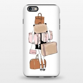 iPhone 6/6s plus  Woman with luggage by Martina
