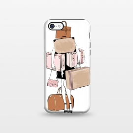 iPhone 5C  Woman with luggage by Martina