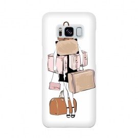 Galaxy S8  Woman with luggage by Martina