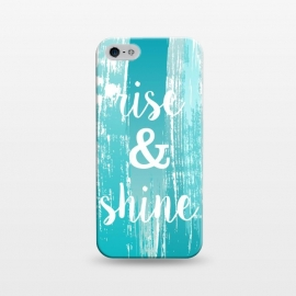 iPhone 5/5E/5s  Rise and shine typography watercolor by Martina