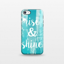 iPhone 5C  Rise and shine typography watercolor by Martina