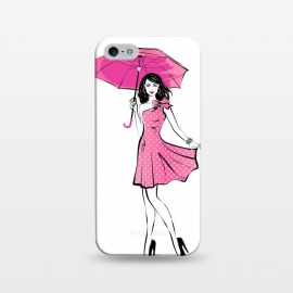 iPhone 5/5E/5s  Pretty girl with umbrella by Martina