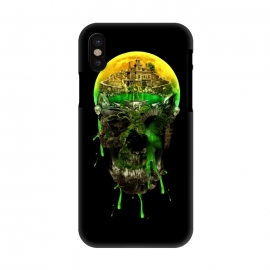 iPhone X  Haunted Skull by Riza Peker