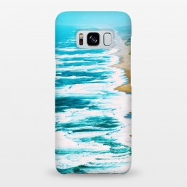Galaxy S8+  Live By The Sea by Uma Prabhakar Gokhale (digital manipulation, paint filter, paint effect, pastel, ocean, sea, summer, surf, swim, tropical, island, nature, landscape, waves, sand, blue, foam)