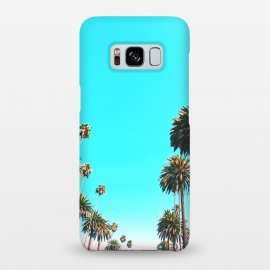 Galaxy S8+  OC by Uma Prabhakar Gokhale (color, digital manipulation, paint filter, paint effect, trees, coconut trees, palm, palms, palm trees, tropical, exotic, vacation, sky, blue, nature, places, california)