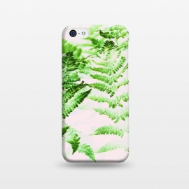 iPhone 5C  Fern Forest by Uma Prabhakar Gokhale (collage, fern, nature, pastels, pink, green, botanical, greenery, growth, forest, plants, trees, digital manipulation, paint filter, paint effect)
