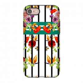 iPhone 8/7  Husna by Zala Farah (stripes,flowers,floral,colorful,rainbow,nature,cute flowers,flower print,flower pattern,flower collage,flora,floral collage,floral print,floral art,art,cute,pretty,nice)