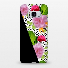 Galaxy S8+  Dark Floral Polka by Zala Farah