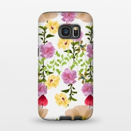 Galaxy S7  Colorful Flower Collage by Zala Farah