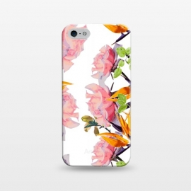 iPhone 5/5E/5s  Lush Watercolor Florals by Zala Farah