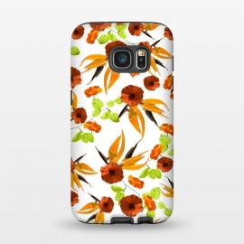 Galaxy S7  Orange Poppy Star by Zala Farah