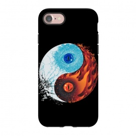 iPhone 8/7  Ice and Fire by Branko Ricov (ice, fire,dragon, dragons, dragon eye,ice dragon, fire dragon,yin yang,yinyang,fire and ice,ice and fire)