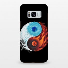 Galaxy S8+  Ice and Fire by Branko Ricov (ice, fire,dragon, dragons, dragon eye,ice dragon, fire dragon,yin yang,yinyang,fire and ice,ice and fire)