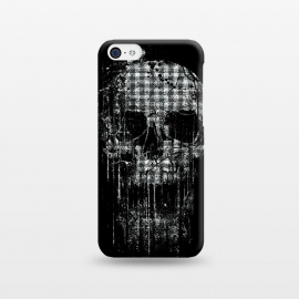iPhone 5C  Cool Splatter Skull by Branko Ricov