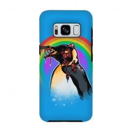 Galaxy S8  Zombie Penguin by Branko Ricov (penguin,zombie,zombies,zombie penguin,rainbow,snow,colors,penguins)