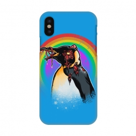 iPhone X  Zombie Penguin by Branko Ricov