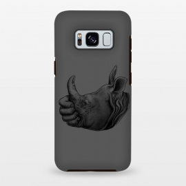 Galaxy S8+  Horn Up by Branko Ricov (horn,Rhinoceros,rhino,thumb up, thumbs up, thumbup,horn up,hornup,save rhino,hand,man and rhino,beautiful,cool,animal,drawing)