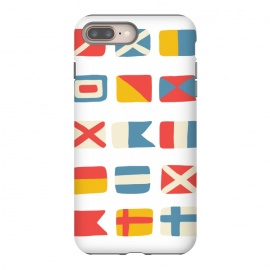 iPhone 8/7 plus  Nautical Flags by Michelle Parascandolo