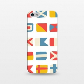 iPhone 5/5E/5s  Nautical Flags by Michelle Parascandolo
