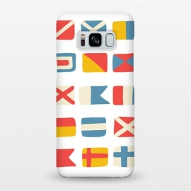 Galaxy S8+  Nautical Flags by Michelle Parascandolo