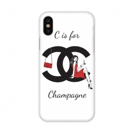 iPhone X  Chanel Champagne by Martina