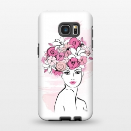 Galaxy S7 EDGE  Flower Crown Girl by Martina