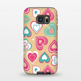 Galaxy S7  Love Hearts by Martina