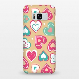 Galaxy S8+  Love Hearts by Martina (pattern, abstract, modern, stylish, original, feminine, girlie,unique,illustration, heart, love, passion,colourful,geometric)
