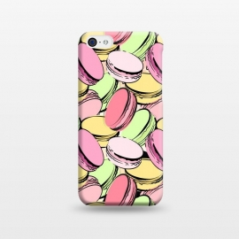 iPhone 5C  Sweet Macarons by Martina (macarons, dessert, sweet, yummy,food,colourful, modern, stylish, fashion, beauty, original, unique, for her, feminine, girlie, illustration,france, french, paris, pattern)