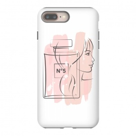 iPhone 8/7 plus  Chanel Perfume by Martina (pink, feminine, girlie, for her, gift, pretty, girl, lady, face, portrait, beauty,perfume, fragnrace, chanel, no5,illustration, modern, stylish,woman)