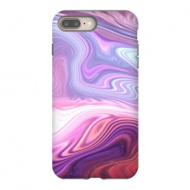 iPhone 8/7 plus  Purple Marble by Martina (abstract, texture, marble, geometric,pattern, pink, purple,nature,cool,pretty,modern, stylish, feminine, girlie, for her,illustration, graphic,design,original, unique)