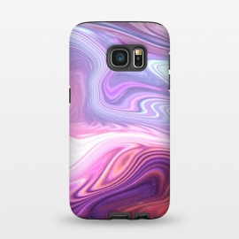 Galaxy S7  Purple Marble by Martina