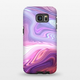 Galaxy S7 EDGE  Purple Marble by Martina