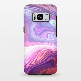 Galaxy S8+  Purple Marble by Martina (abstract, texture, marble, geometric,pattern, pink, purple,nature,cool,pretty,modern, stylish, feminine, girlie, for her,illustration, graphic,design,original, unique)