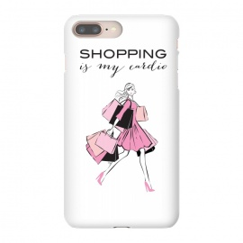 Shopping Girl by Martina (shopping, cardio,shopping is my cardio,typography, quote, motto, words, wording, woman, girl,lady,shoppaholic,shopping bags,pink,modern, stylish, fashion, illustration, fashion illustration, unique, original, feminine, girlie, for her)