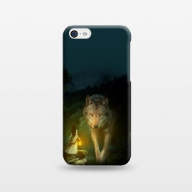 iPhone 5C  The Wolf by Riza Peker (photomanipulation,wild,animals,wolf,dark)
