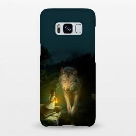 Galaxy S8+  The Wolf by Riza Peker (photomanipulation,wild,animals,wolf,dark)