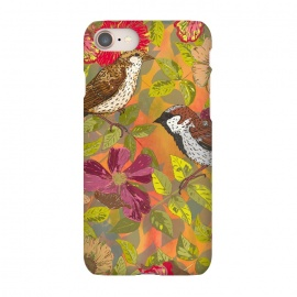 iPhone 8/7  Sparrow and Wild Rose by Lotti Brown