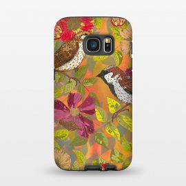 Galaxy S7  Sparrow and Wild Rose by Lotti Brown