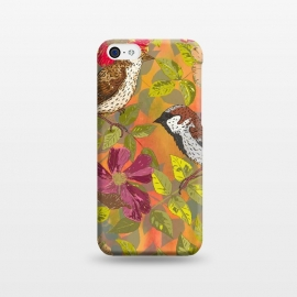iPhone 5C  Sparrow and Wild Rose by Lotti Brown