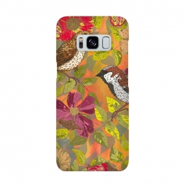 Galaxy S8  Sparrow and Wild Rose by Lotti Brown
