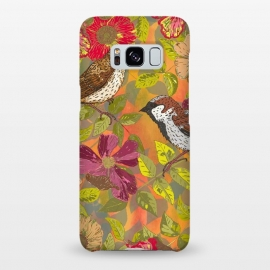 Galaxy S8+  Sparrow and Wild Rose by Lotti Brown