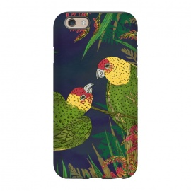 iPhone 6/6s  Parakeets in Paradise by Lotti Brown