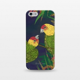 iPhone 5/5E/5s  Parakeets in Paradise by Lotti Brown