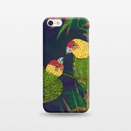 iPhone 5C  Parakeets in Paradise by Lotti Brown