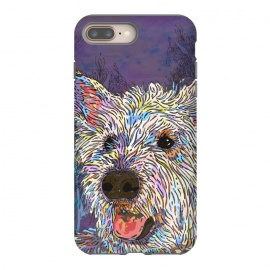 West Highland Terrier (Westie) by Lotti Brown (west highland terrier, westie,dog,dogs,pet,pets,animal,happy,colorful)