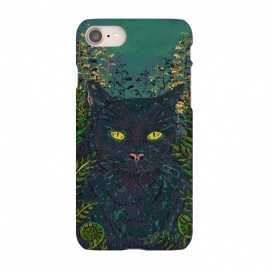 iPhone 8/7  Black Cat in Ferns by Lotti Brown