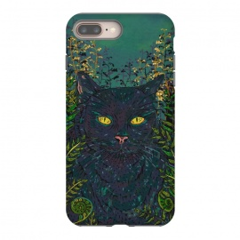 iPhone 8/7 plus  Black Cat in Ferns by Lotti Brown