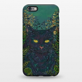 iPhone 6/6s plus  Black Cat in Ferns by Lotti Brown